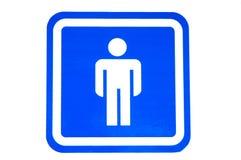 toaleta męski znak Zdjęcie Stock