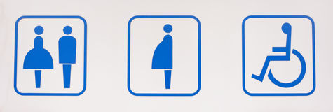 Toaleta symbol Obrazy Stock