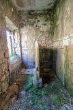 Toaleta w koszary od 1 wojny światowej zdjęcie royalty free