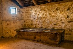 Toaleta w wiekach średnich obrazy stock