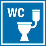 Toaleta znak ilustracja wektor