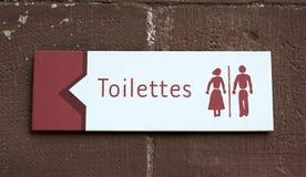 Toaleta znak Obraz Royalty Free