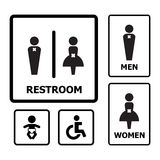 toaleta znak royalty ilustracja