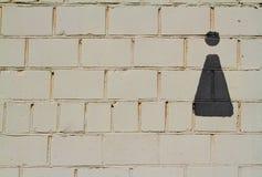 Toaleta znak na ścianie zdjęcia stock