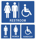 toaleta znaki Zdjęcia Stock