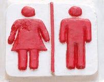 toaleta znaki Zdjęcie Stock