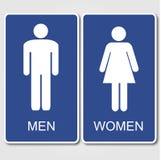 Toaleta znaki ilustracji
