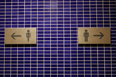 toaleta znaki Obraz Royalty Free