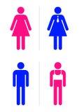 toaleta znaki Fotografia Royalty Free