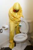 Toalete da esteira de Haz da limpeza Fotos de Stock Royalty Free