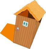 Toalete de madeira Imagem de Stock Royalty Free