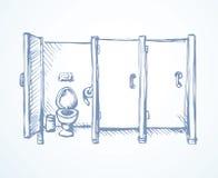 Toalete Desenho do vetor ilustração stock