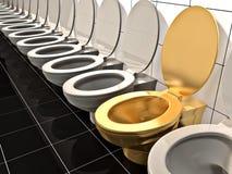 Toalete do escritório Fotos de Stock Royalty Free
