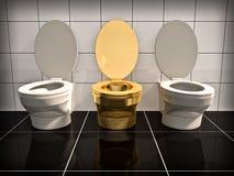 Toalete do escritório ilustração stock