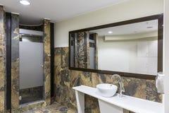 Toalete do Gym e do bem-estar fotografia de stock