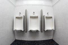Toalete dos mictórios em público Fotografia de Stock Royalty Free