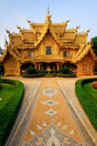 Toalete dourado do templo de Wat Rong Khun. Imagem de Stock Royalty Free