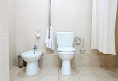 Toalete e bidet Fotografia de Stock
