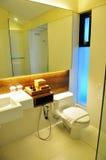 Toalete e chuveiro no recurso fotografia de stock royalty free