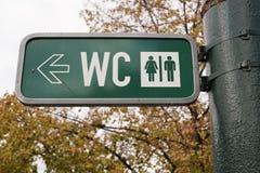 toalete em Praga fotografia de stock