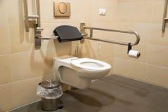 Toalete para deficientes motores imagens de stock