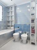 Toaletes e bidê no estilo clássico Foto de Stock Royalty Free