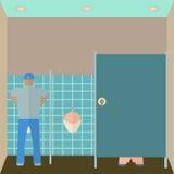 Toaletowa wewnętrzna wektorowa ilustracja Klozet wewnątrz Obraz Royalty Free