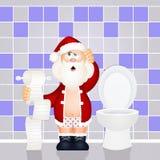 Toaletowy Święty Mikołaj ilustracja wektor
