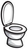 toalett royaltyfri illustrationer
