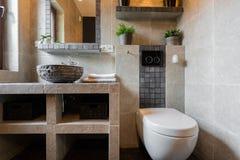 Toalett för gäst Arkivfoton