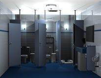 Toalett för män stock illustrationer