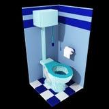 toalett för voxel 3d Royaltyfri Bild