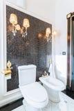 Toalett i den barocka uppehållet Arkivfoto
