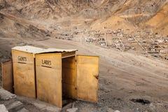 Toalett i den Leh Ladakh staden Royaltyfria Foton