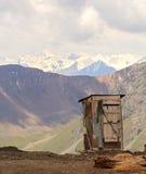 Toalett på bergpasserandet Fotografering för Bildbyråer