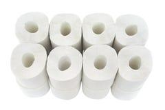 Toalett-papper rullar Royaltyfri Fotografi