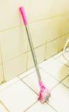 Toalettborsten, smutsar ner borsten Arkivbilder