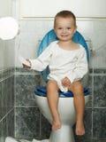 Toaletten Arkivbild