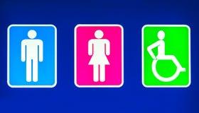 Toaletter undertecknar Royaltyfria Foton