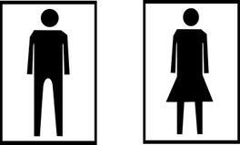 Toalettsymbol stock illustrationer
