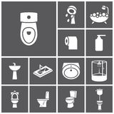 Toalettsymboler Stock Illustrationer