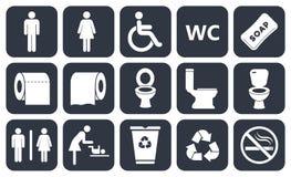 Toalettsymboler Arkivfoto