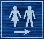 toaletttecken Arkivfoto
