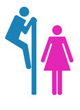 Toaletttecken Fotografering för Bildbyråer