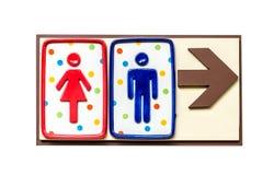 Toaletttecken och riktning Royaltyfri Bild