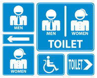 Toaletttecken som är lätt att redigera bild royaltyfri illustrationer