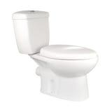 toalettwhite Arkivfoton