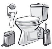 Toalety wc z toaletą royalty ilustracja