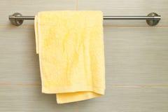 Toalha amarela Fotografia de Stock