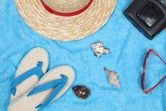 Toalha azul Fotos de Stock Royalty Free